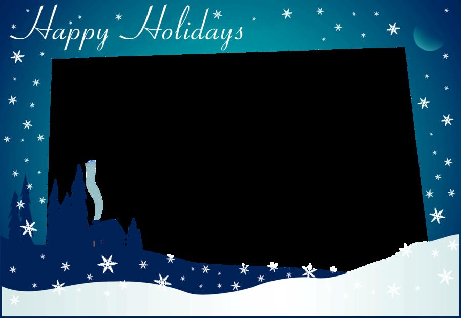 Christmas Card Template clipart.