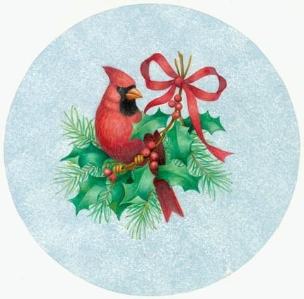 CHRISTMAS CARDINAL CLIP ART.