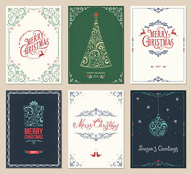 Best Christmas Card Illustrations, Royalty.
