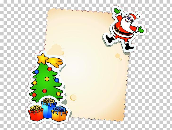 Christmas card Santa Claus Message Christmas tree, Christmas.