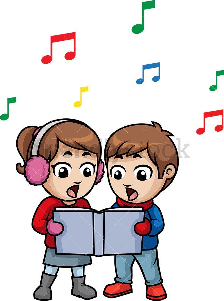 Kids Singing Christmas Carols.