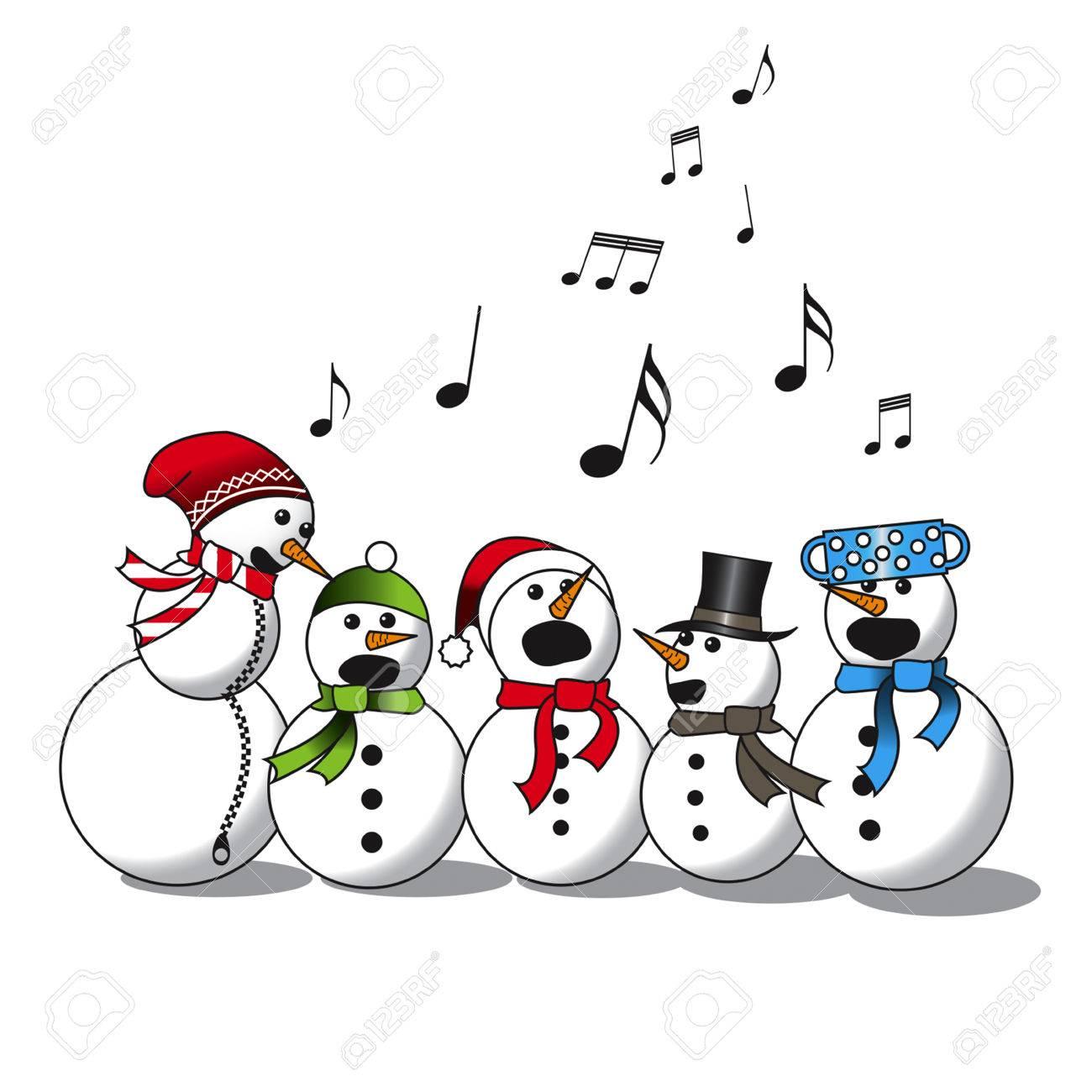Snowman singing.