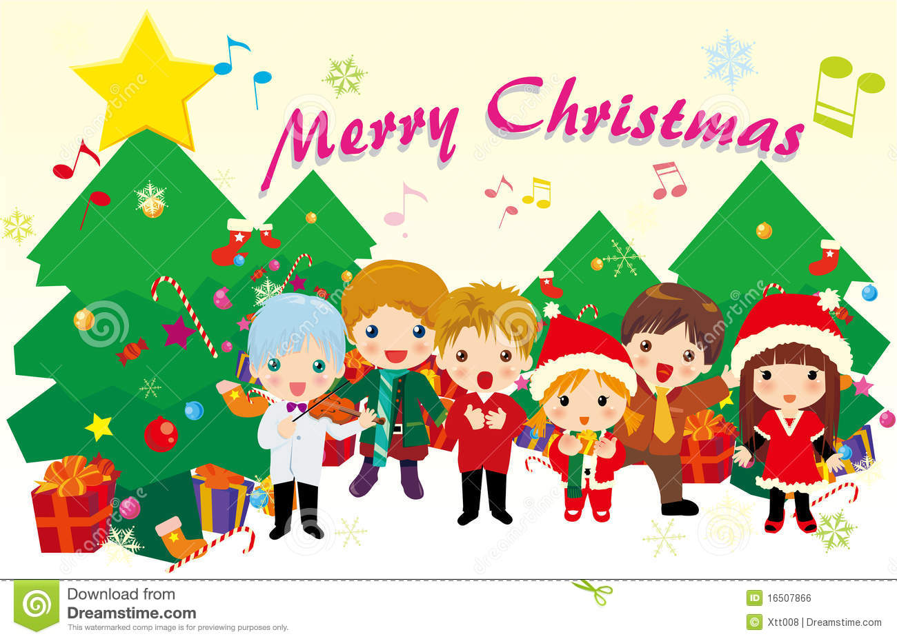 Christmas carols stock vector. Illustration of song, cute.