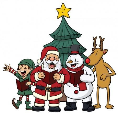 Singing Clipart christmas carol 14.
