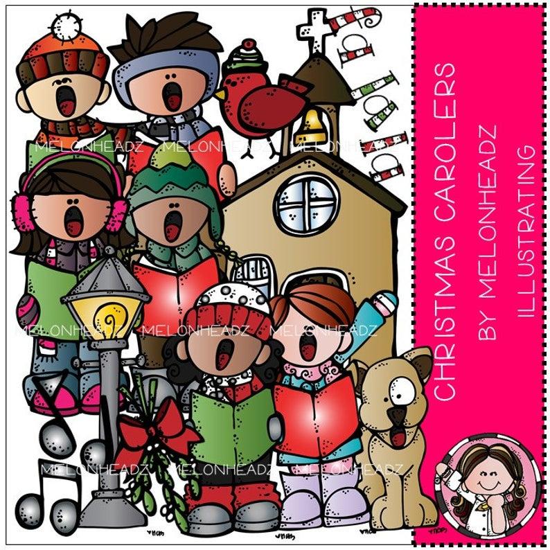 Christmas Carolers clip art.