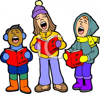 Children Christmas Caroling.