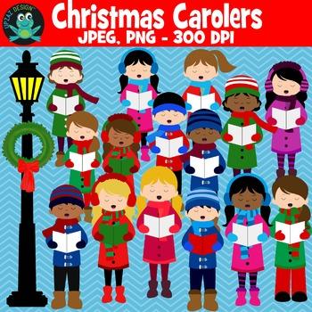 Christmas Carolers {Upzaz Digital Clipart}.