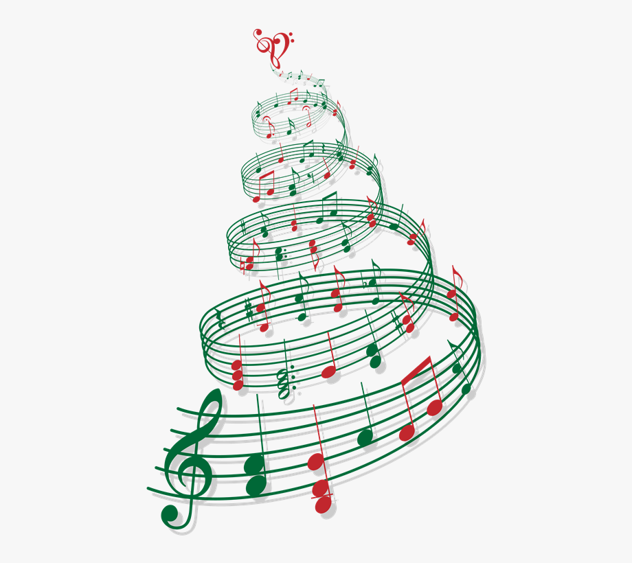 Christmas Musical Notes Clipart.