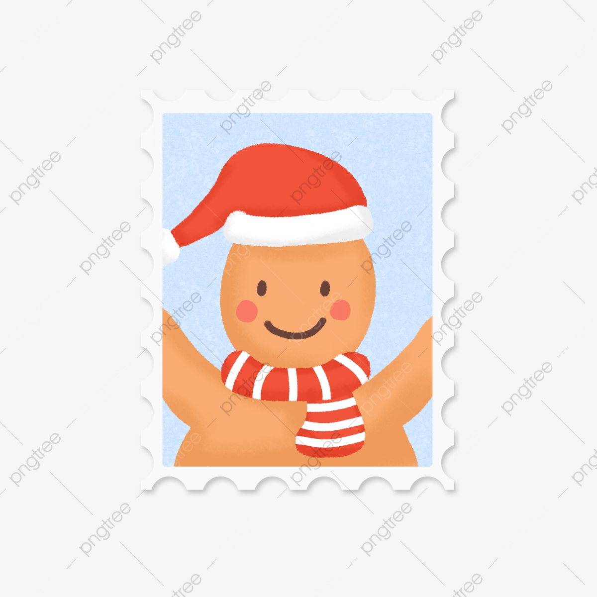 6 Christmas Cartoon Characters Vector Material, Cartoon Clipart.