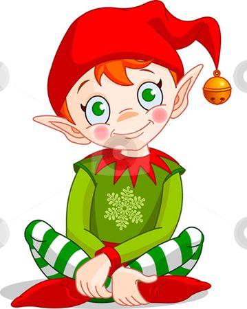 Cartoon Christmas Elves.