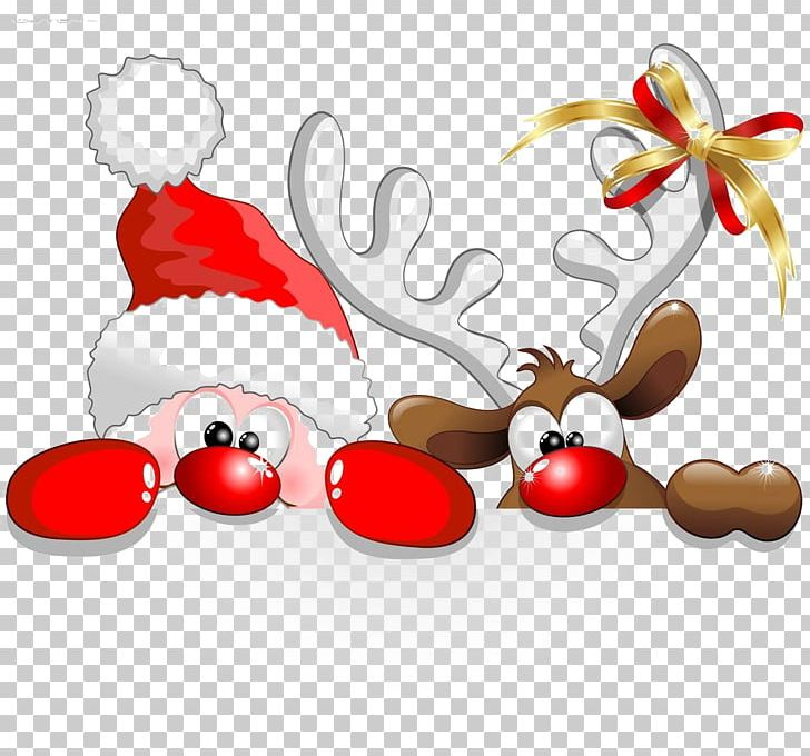 Santa Claus Reindeer Christmas Cartoon PNG, Clipart.