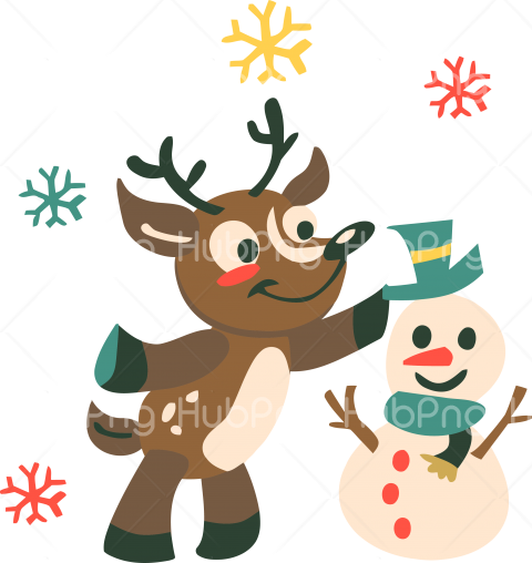 christmas png cartoon deer reindeer clipart Transparent.