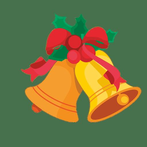 Christmas bells mistletoe cartoon.