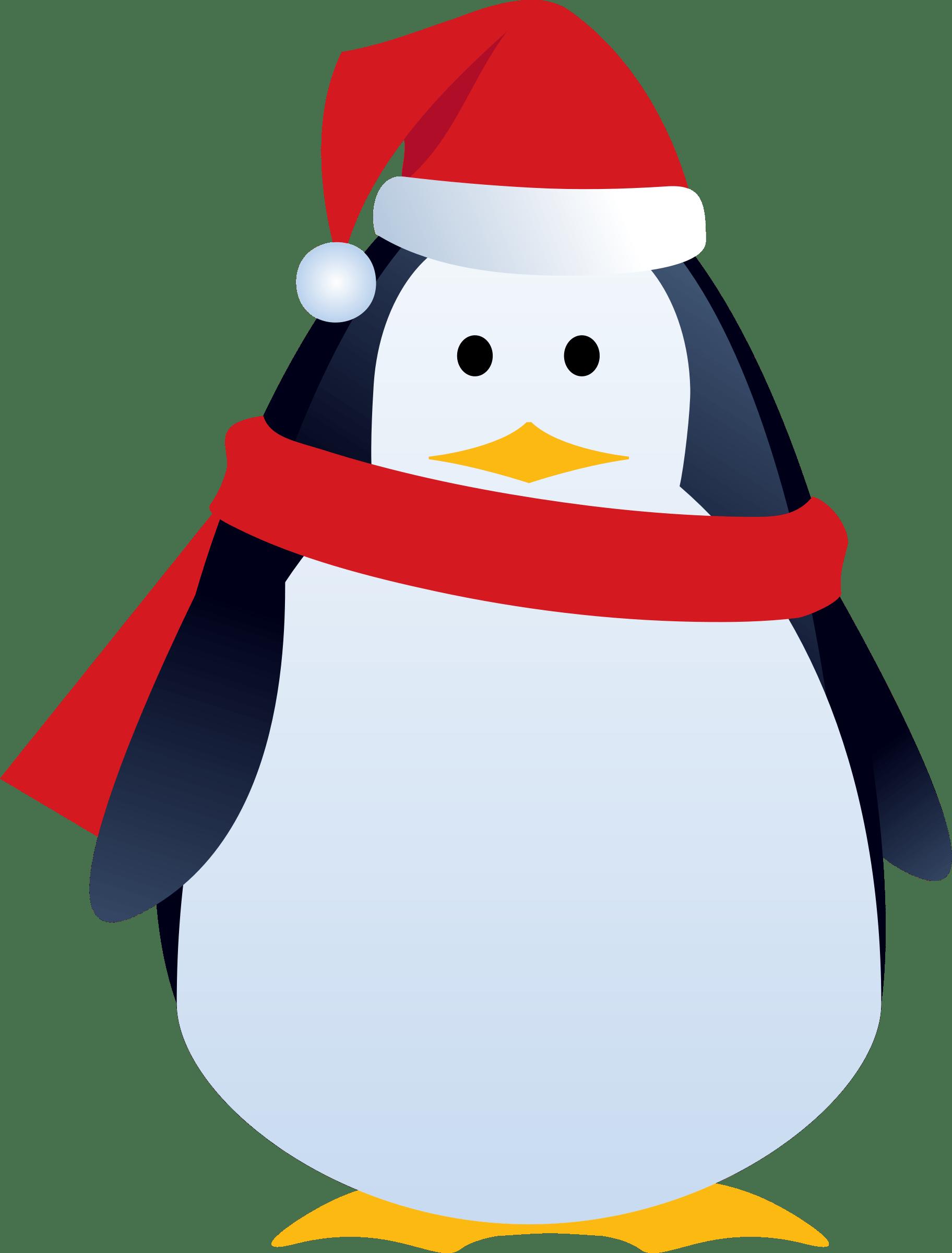 Christmas Penguin Cartoon transparent PNG.