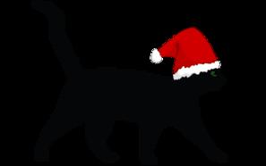 Christmas Cat Clip Art at Clker.com.