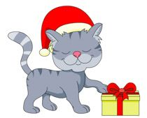 Christmas Cats Clip Art Free.