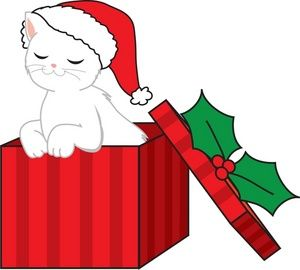 christmas cat clipart.