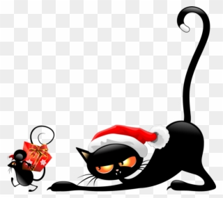 Free PNG Christmas Cats Clip Art Download.