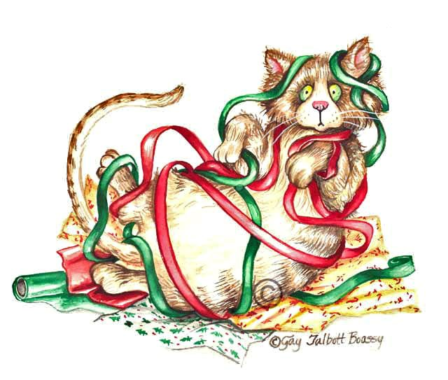 Free Cat Christmas Cliparts, Download Free Clip Art, Free.
