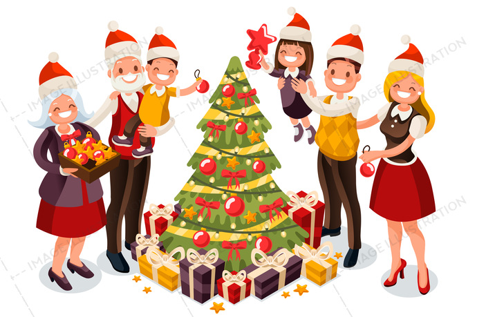 Christmas Celebration Clipart.