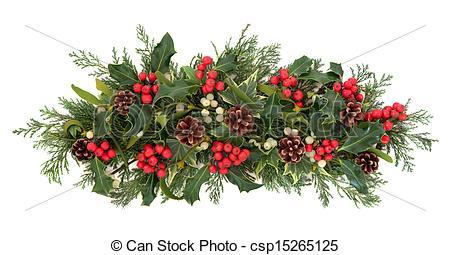 Stock Photo of Christmas Flora and Fauna.