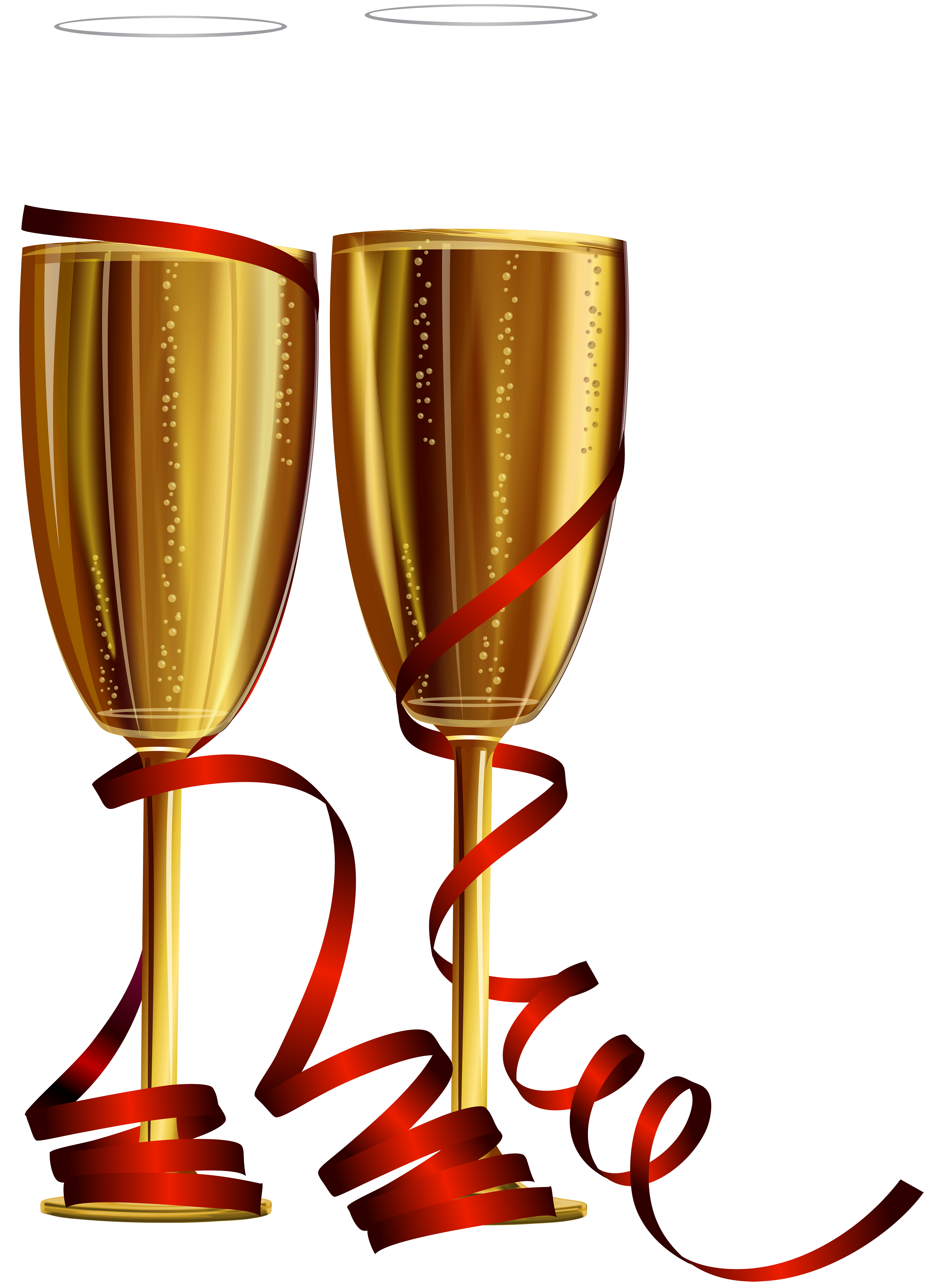 New Year Champagne Glasses PNG Clip Art.