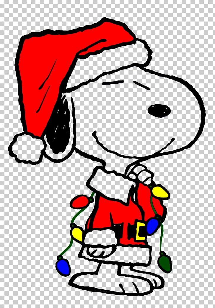 Snoopy Charlie Brown Woodstock Peanuts Christmas PNG.