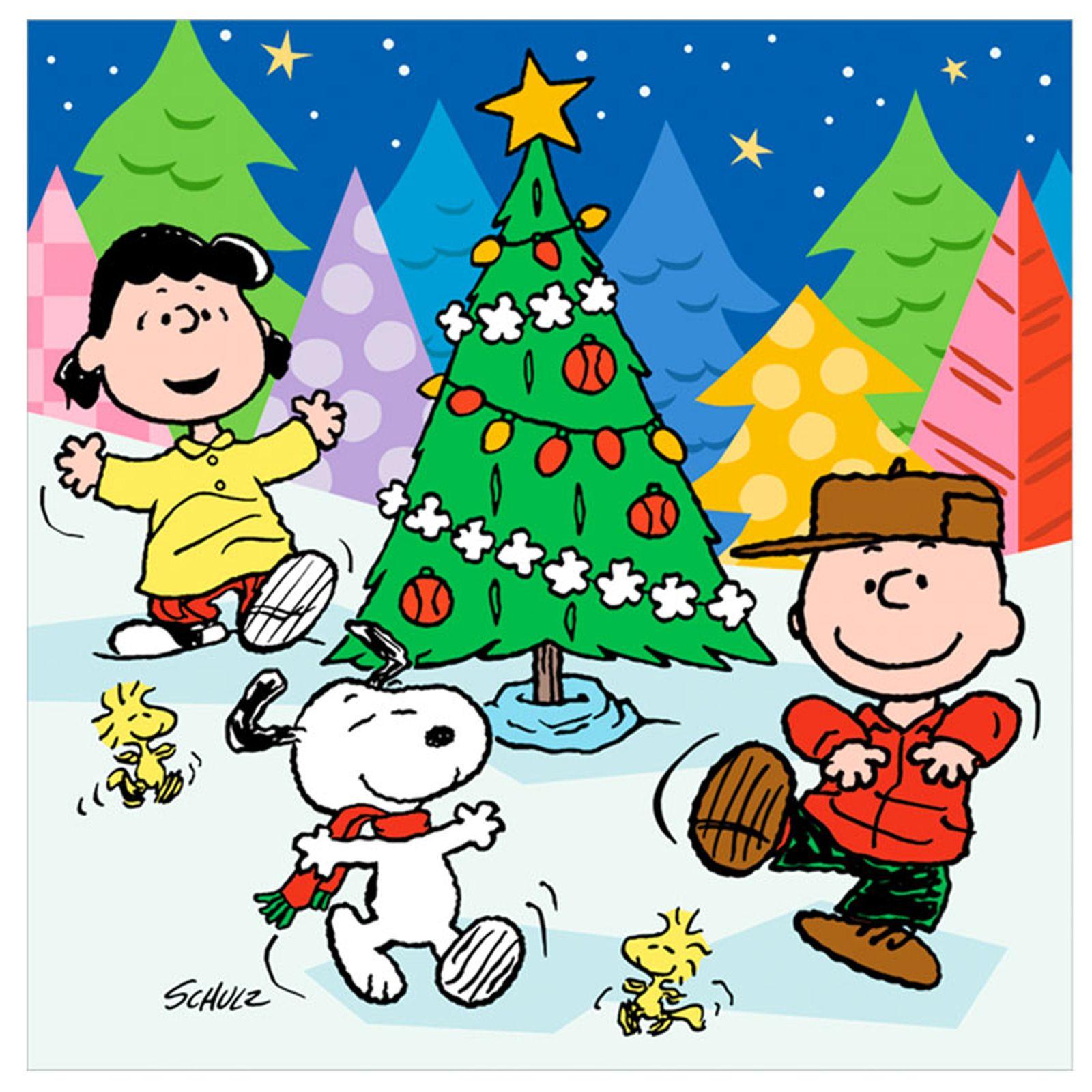 Peanuts Characters Christmas Clip Art.