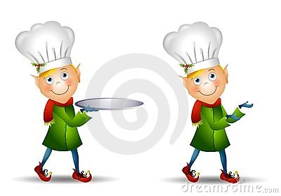 Christmas Elf Chef Hat Royalty Free Stock Image.