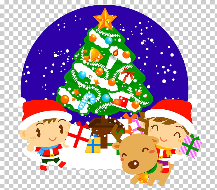 Santa Claus Christmas tree Christmas decoration, roll.