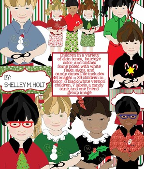 Christmas Children Clipart Bundle.