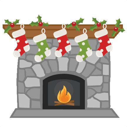 Christmas Fireplace SVG.