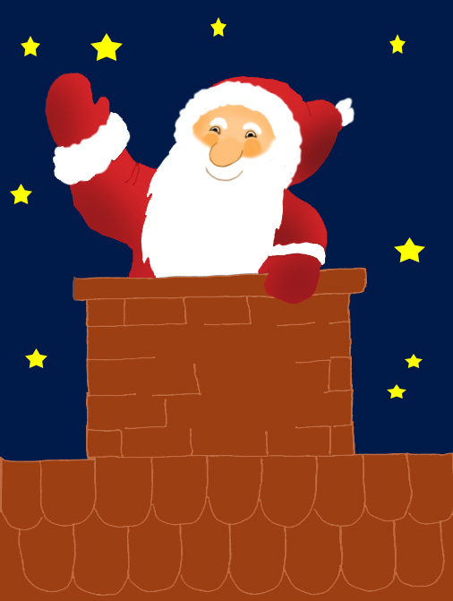 Funny and free Santa Claus Clipart..