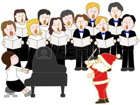Christmas Choral Clipart.