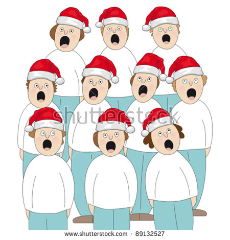 Christmas Choir Stock Images, Royalty.
