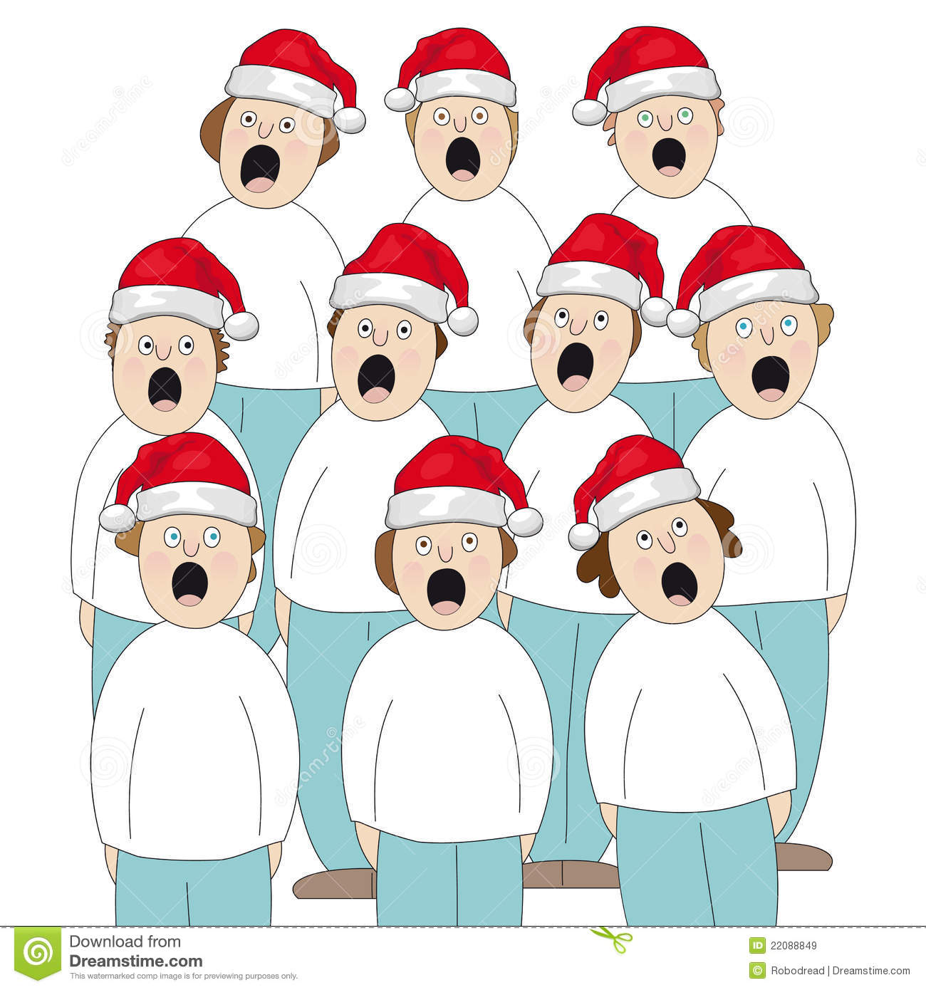 Choir Christmas stock vector. Illustration of mouth, hold.