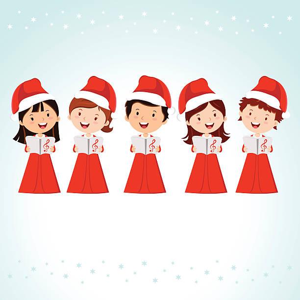 Best Christmas Choir Illustrations, Royalty.