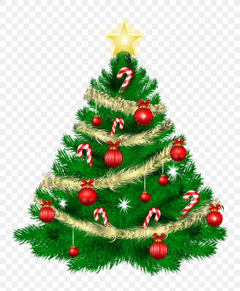 Christmas Tree Santa Claus Clip Art, PNG, 1125x1361px.