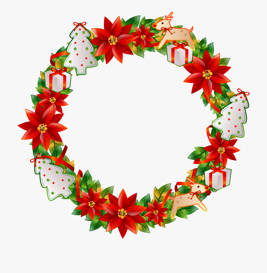 Christmas Flower Circle Transprent Png Free Download.