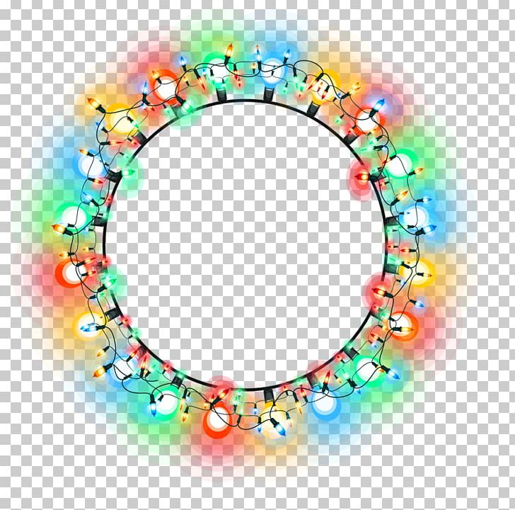 Christmas Lights Circle PNG, Clipart, Backlight, Back To School.