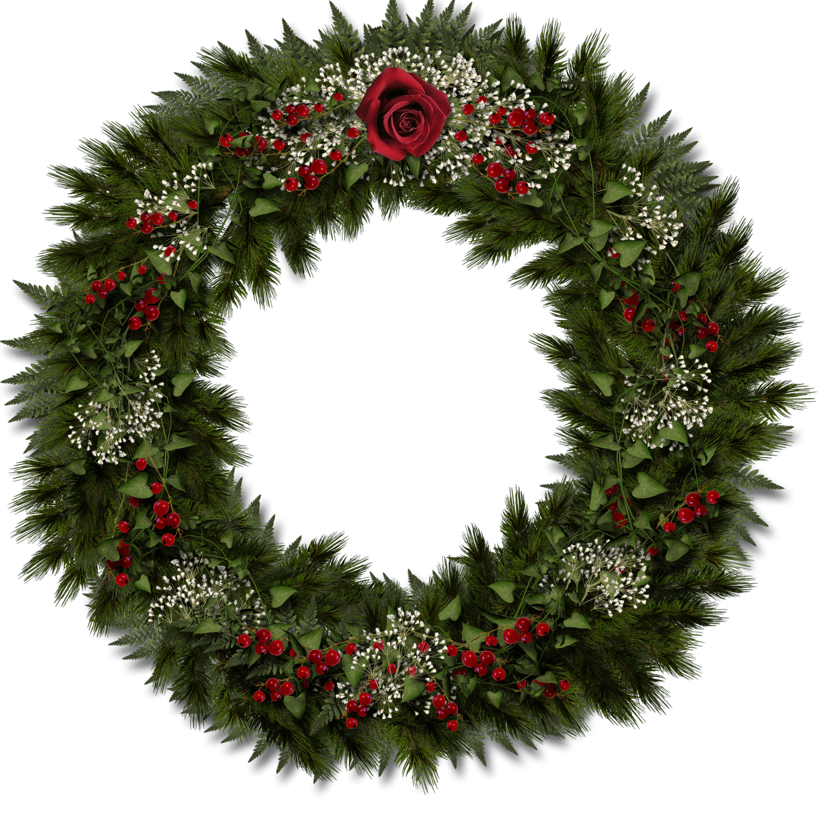 Christmas Door Decoration transparent PNG.