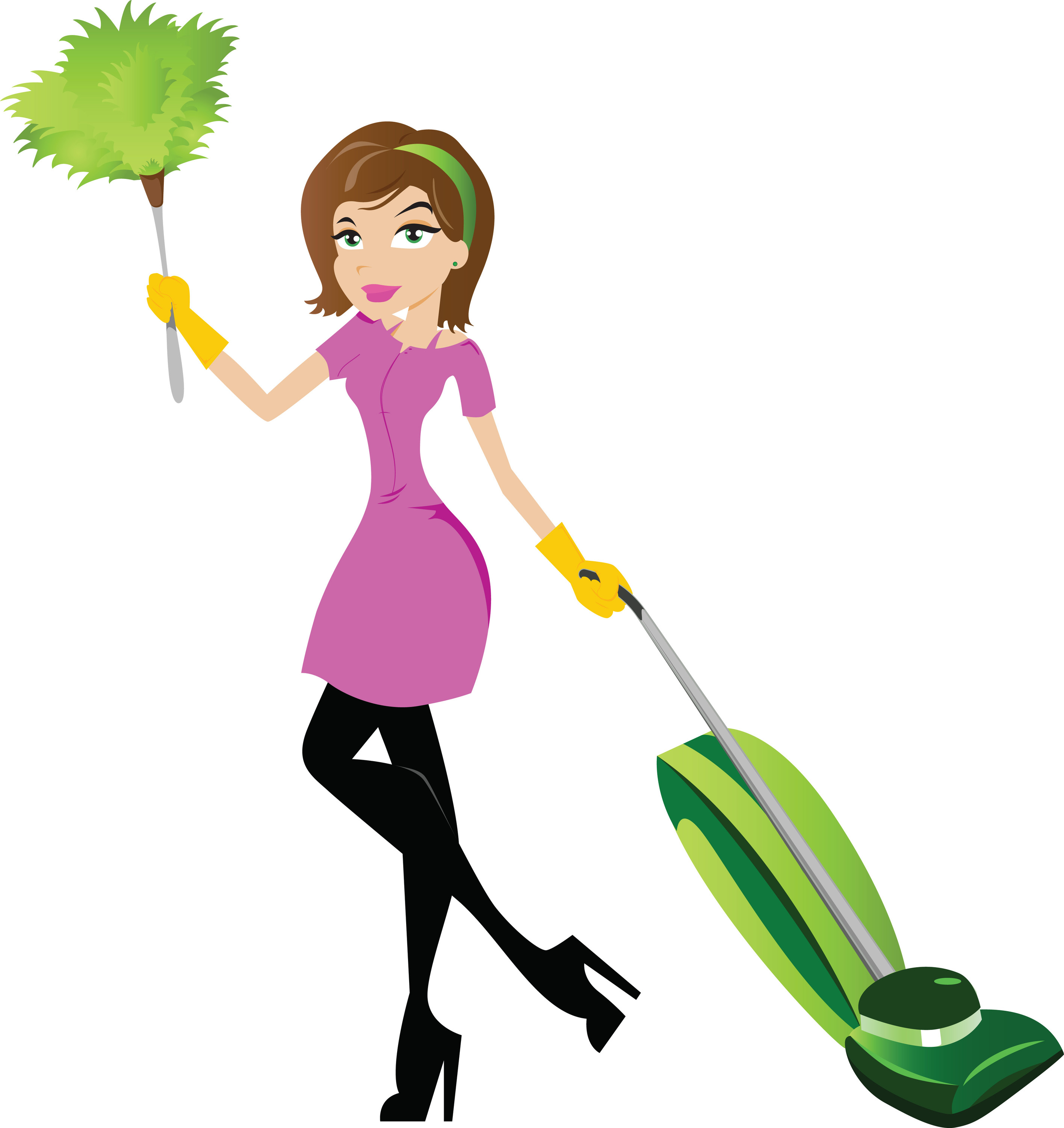 Person Cleaning Clipart.