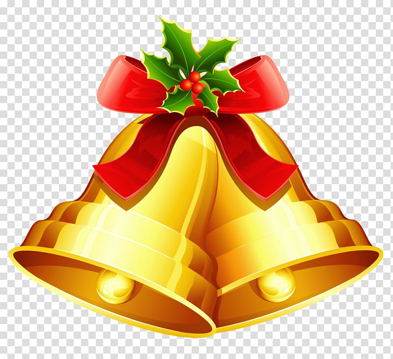 Christmas Jingle Bells , Bell transparent background PNG clipart.