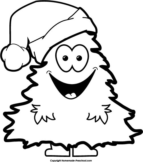 Black And White Christmas Clipart.