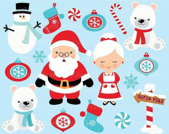 Christmas, North Pole, Santa Clipart.