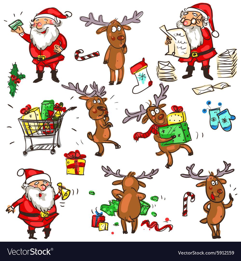 Christmas characters.