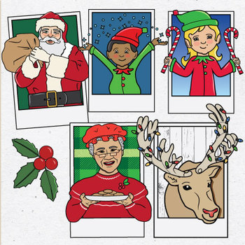 Cast of Characters IV Christmas Clip Art.