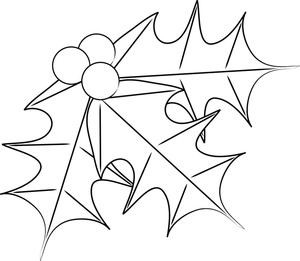 Free Free Holly Coloring Pages Clip Art Image 0515.