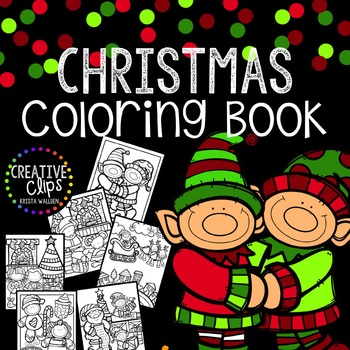 Christmas Coloring Pages {FREE} {Made by Creative Clips Clipart}.