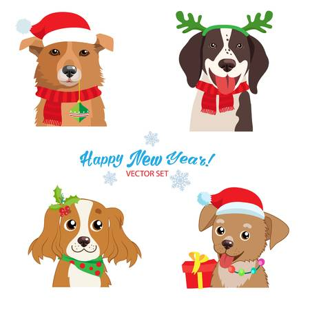 12,291 Dog Christmas Stock Illustrations, Cliparts And Royalty Free.